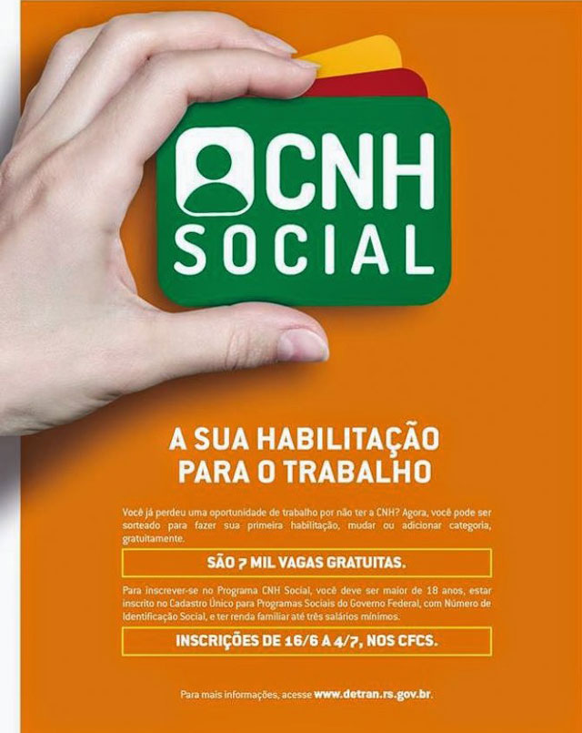 Quem tem direito a CNH SOCIAL