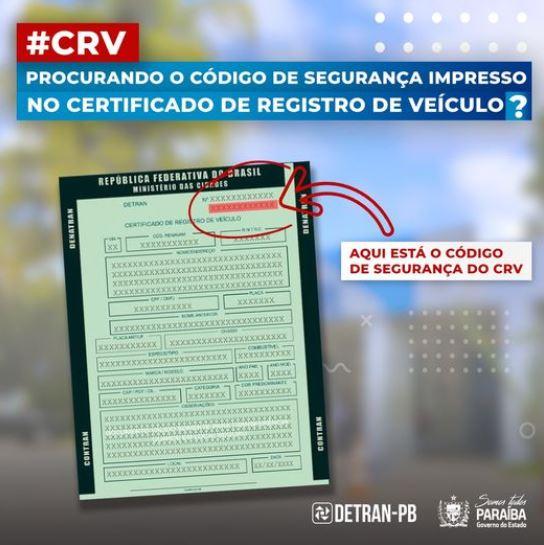 Como encontrar o código de segurança do CRV